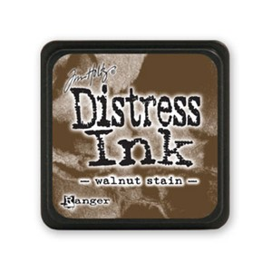 Distress Mini Ink Pad - Walnut Stain