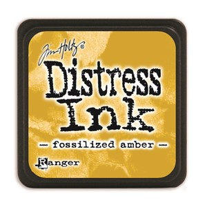 Distress Mini Ink Pad -Fossilized Amber
