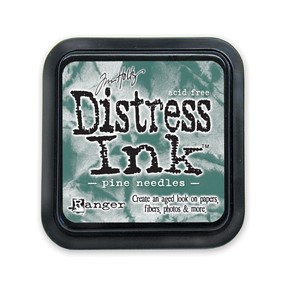 Distress ink Pine Needles