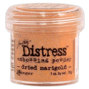 Dried Marigold, Distress embossing powder