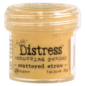 Scattered Straw, Distress embossing powder