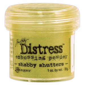 Shabby Shutters, Distress embossing powder
