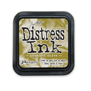 Crushed Olive Stamp Pad, Distress ink