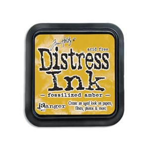 Distress Ink Pad - April - Fossilized Amber