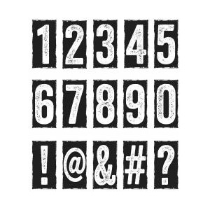 Tim Holtz Stamp - Number Blocks