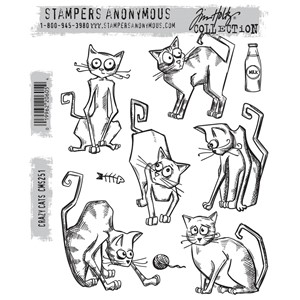 Tim Holtz stamps - CRAZY CATS