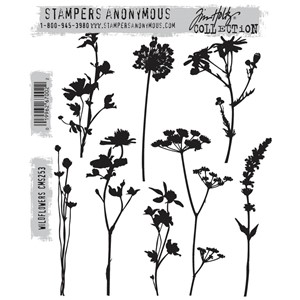 Tim Holtz stamps - WILDFLOWERS