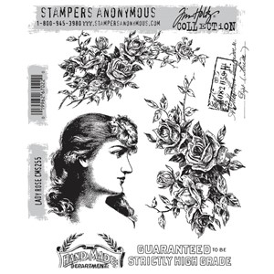 Tim Holtz stamps - LADY ROSE