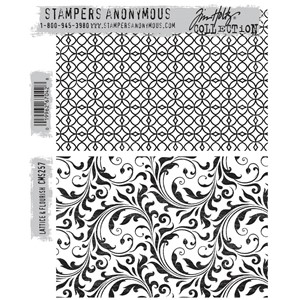 Tim Holtz stamps - LATTICE & FLOURISH
