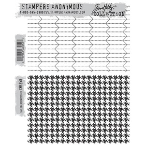 Tim Holtz stamps - TAILOR & HOUNDSTOOTH