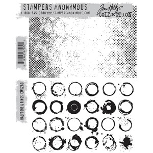Tim Holtz stamps - HALFTONE & RINGS