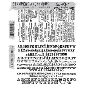 Tim Holtz stamps - NEWSPRINT & TYPE