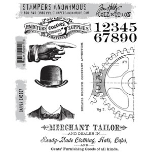 Tim Holtz stamps - DAPPER