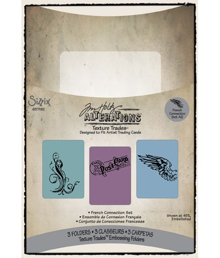 Embossing Folders 3PK - French Conne - UTGÅR