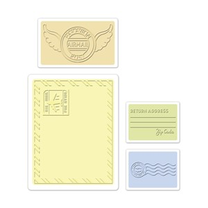 Textured Impressions Embossing Folders 4pk- Mail Set by Jen