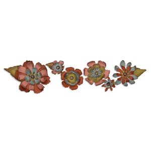 Sizzlits Decorative Strip Die - Tattered Flower Garland by T