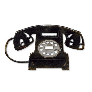 Bigz Die - Vintage Telephone by Tim Holtz
