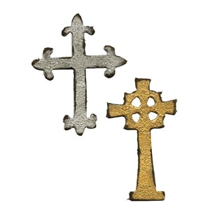 Movers & Shapers Magnetic Die Set 2PK - Mini Ornate Crosses