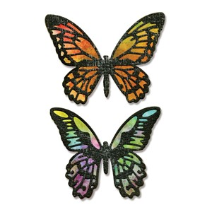 Thinlits Die Set 4PK Detailed Butterflies by Tim Holtz - Feb