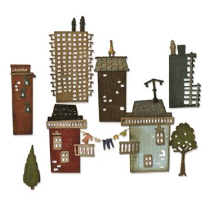 Thinlits Dies Cityscape Suburbia by Tim Holtz - mar.17