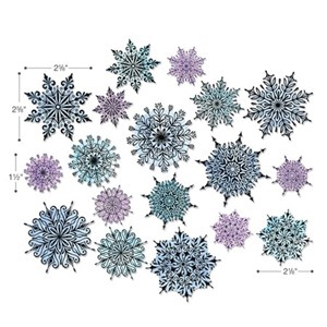 Swirly Snowflakes by Tim Holtz, 18PK