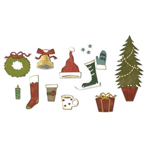 Sizzix - Thinlits die set 12pk festive things