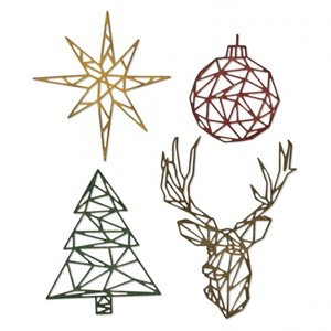 Sizzix - Thinlits die set 4pk geo christmas
