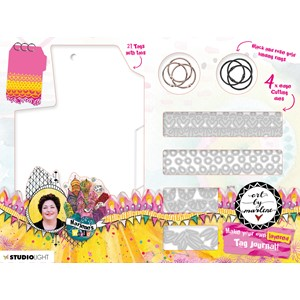 BM DIY Layered tag journal Marlenes World 240x180x35mm nr.14