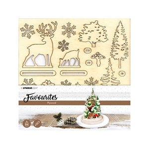 Studio Light Plywood Favorites Christmas Tree Scenery