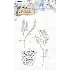 SL Clear Stamp Celebrate new beginnings 105x148mm nr.515