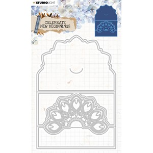 SL Cutting & Emb. Die Cardshape Celebrate new beginnings 142
