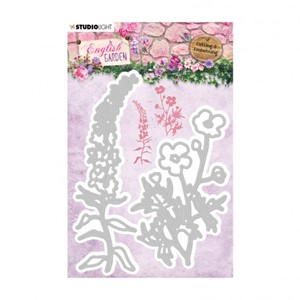 Studio Light - Embossing die English garden 100x132mm nr.238