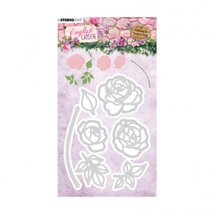 Studio Light - Embossing die English garden 92x126mm nr.239