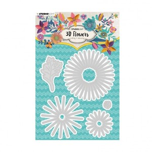 Studio Light - Embossing die cut 3D flower nr.178