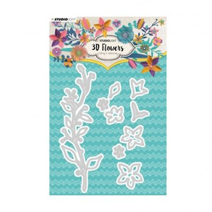 Studio Light - Embossing die cut 3D flower nr.181
