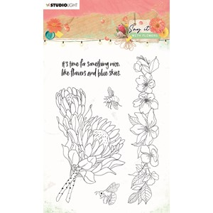 SL Clear Stamp Say it with flowers 105x148mm nr.524