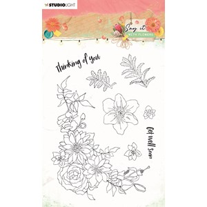 SL Clear Stamp Say it with flowers 105x148mm nr.525