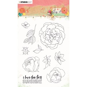 SL Clear Stamp Say it with flowers 105x148mm nr.527