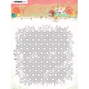 SL Clear Stamp background Say it with flowers 150x150mm nr.5