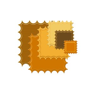 LG Classic Inverted Scalloped Square