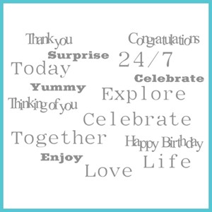 Many Words - CELEBRA'TIONS STAMP