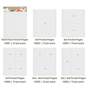 2x8/4x4 DividedPocket Pages, includes 10 Divided Pocket Page