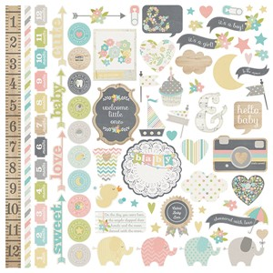 Hello Baby - Fundamentals Cardstock Sticker