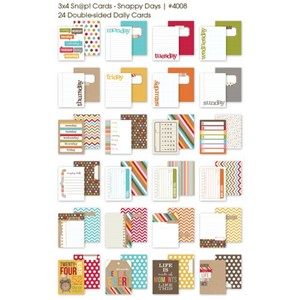3x4 Sn@p! Cards - Snappy Days - 24 double sided quote cards