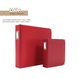 Red 6x8 Leather Binder