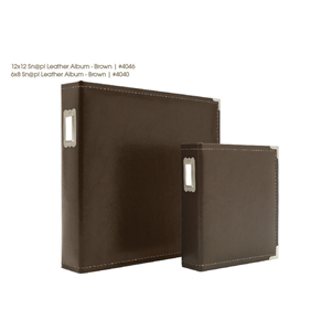 Brown 6x8 Leather Binder