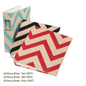 SN@P! -  6x8 Burlap SN@P! Binder - Red