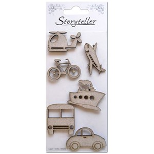 Chipboardfigurer - Transport, 6 stk