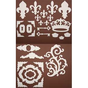 Glimmer Chips Embossed - Regal