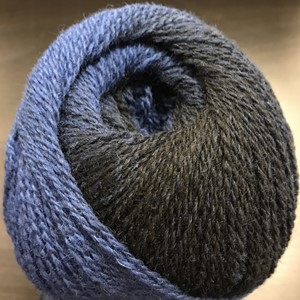 Cassiopeia garn No.7/2, col. 006 (black-blue), 150g